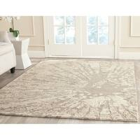 Safavieh Handmade Bella Modern Abstract Winter Taupe Wool Rug - 5' x 7'