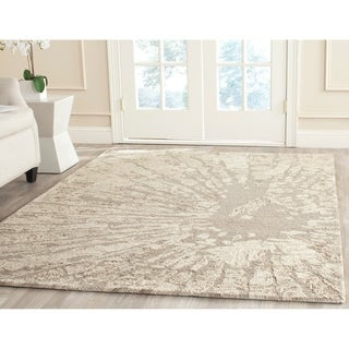 Safavieh Handmade Bella Modern Abstract Winter Taupe Wool Rug (6'7 x 9')
