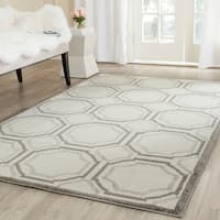 Safavieh Amherst Indoor/ Outdoor Ivory/ Light Grey Rug - 5' x 8'