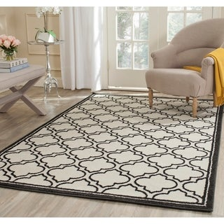 Safavieh Amherst Indoor/ Outdoor Ivory/ Anthracite Rug (5' x 8')