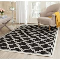 Safavieh Amherst Indoor/ Outdoor Anthracite/ Ivory Rug - 4' x 6'