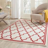 Safavieh Amherst Indoor/ Outdoor Ivory/ Red Rug - 4' x 6'