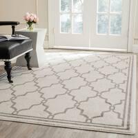 Safavieh Amherst Indoor/ Outdoor Ivory/ Grey Rug - 4' x 6'