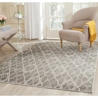 Safavieh Amherst Indoor/ Outdoor Grey/ Light Grey Rug - 4' x 6'