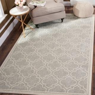 Safavieh Amherst Indoor/ Outdoor Light Grey/ Ivory Rug (4' x 6')