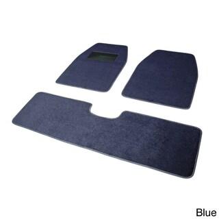 Oxgord Solid Color Rugged SUV, Van, Truck 3-piece Floor Mat Set (Option: Blue)