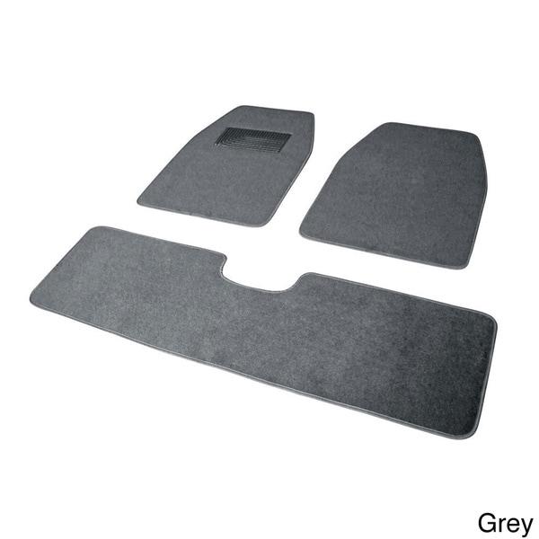 Oxgord solid color rugged suv van truck 3 piece floor for 1 piece floor mats trucks