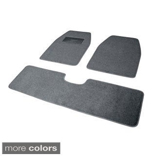Oxgord Solid Color Rugged SUV, Van, Truck 3-piece Floor Mat Set (Option: Blue)