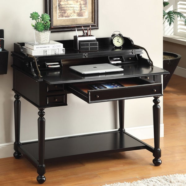 of America Traditional Multi-Storage Pull-Out Secretary Writing Desk