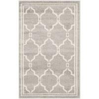 Safavieh Amherst Indoor/ Outdoor Light Grey/ Ivory Rug - 2'6 x 4'