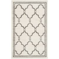 Safavieh Amherst Indoor/ Outdoor Ivory/ Grey Rug - 2'6 x 4'