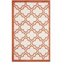 Safavieh Amherst Indoor/ Outdoor Ivory/ Orange Rug - 2'6 x 4'