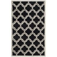 Safavieh Amherst Indoor/ Outdoor Anthracite/ Ivory Rug - 3' x 5'