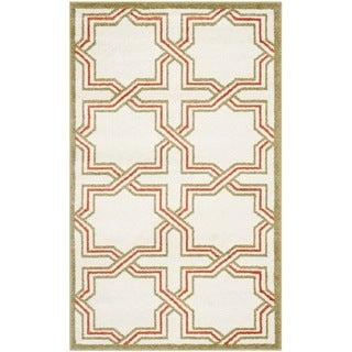 Safavieh Amherst Indoor/ Outdoor Ivory/ Light Green Rug (3' x 5')