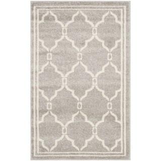 Safavieh Amherst Indoor/ Outdoor Light Grey/ Ivory Rug (3' x 5')