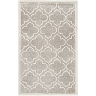 Safavieh Amherst Indoor/ Outdoor Light Grey/ Ivory Rug (2'6 x 4')