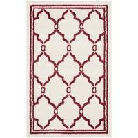 Safavieh Amherst Indoor/ Outdoor Ivory/ Red Rug - 3' x 5'