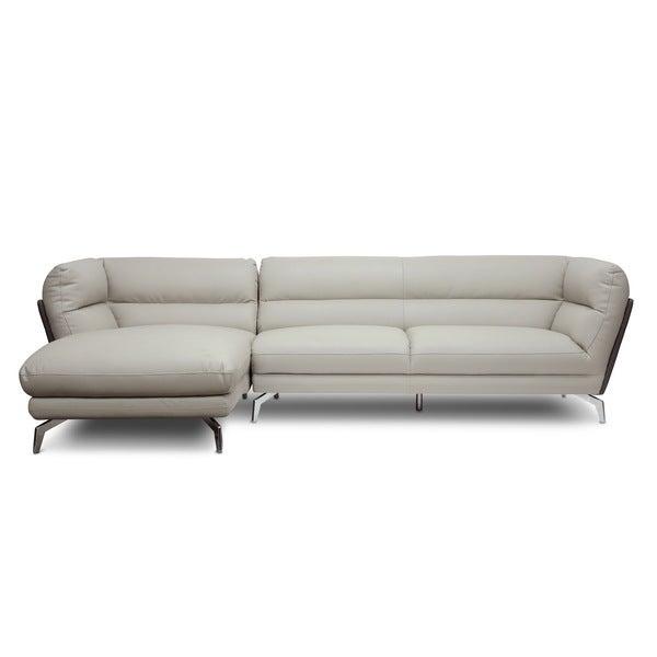 Sectional Sofa Grey Baxton Studio: Shop Baxton Studio Quall Gray Modern Sectional Sofa