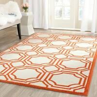 Safavieh Amherst Indoor/ Outdoor Ivory/ Orange Rug - 3' x 5'