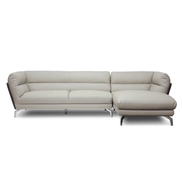 Sectional Sofa Grey Baxton Studio: Baxton Studio Quall Gray Modern Sectional Sofa