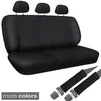 OxGord Synthetic/Imitation Leather 8-piece Bench Seat Cover Set for Any Split Benches