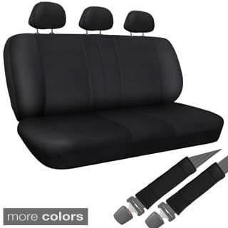 Oxgord Synthetic Imitation Leather 8 Piece Bench Seat Cover Set For Any Split Benches
