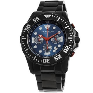 Link to Akribos XXIV Men's Quartz Chronograph Stainless Steel Black Bracelet Watch Similar Items in Men's Watches