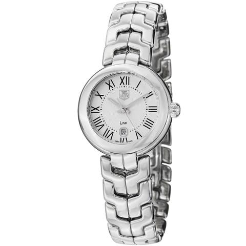 Tag Heuer Women's 'Link' Silver Dial Stainless Steel Quartz Watch WAT1416.BA0954