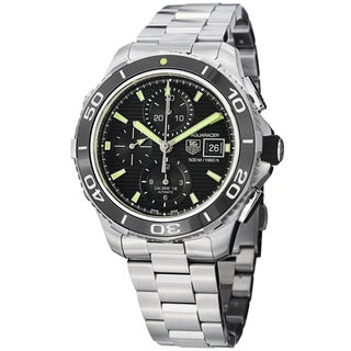 Tag Heuer Men's CAK2111.BA0833 'Aquaracer500' Black Dial Chronograph Watch