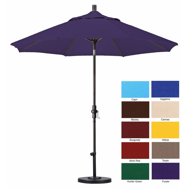 Pacifica 9 Foot Crank And Push Button Tilt Umbrella With