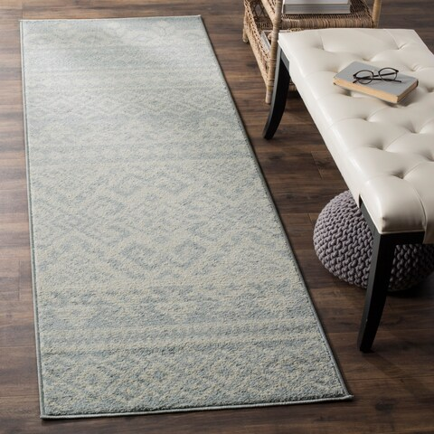 "Safavieh Adirondack Dixie Rustic Lodge Ivory/ Silver Rug - 2'6"" x 6'"