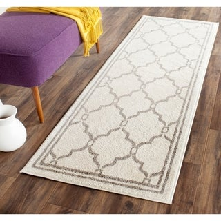 Safavieh Amherst Indoor/ Outdoor Ivory/ Grey Rug (2'3 x 7')
