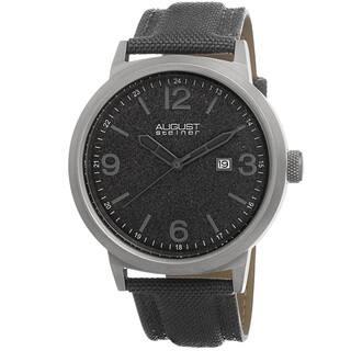 August Steiner Men's Quartz Sparkling Matte Dial Canvas Grey Strap Watch with FREE GIFT|https://ak1.ostkcdn.com/images/products/8839656/August-Steiner-Mens-Quartz-Sparkling-Matte-Dial-Canvas-Strap-Watch-P16070356.jpg?impolicy=medium