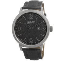 August Steiner Men's Quartz Sparkling Matte Dial Canvas Grey Strap Watch
