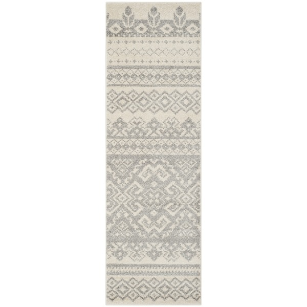 Safavieh Adirondack Southwestern Ivory / Silver Rug - 2'6 x 8'