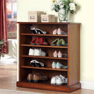Furniture of America Delza 5-shelves Shoe Cabinet