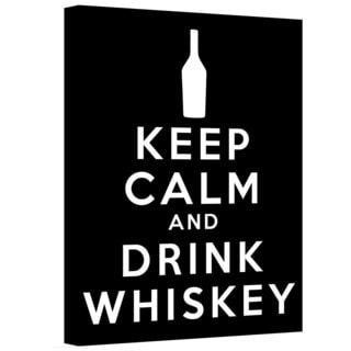 ArtWall Art D. Signer 'Keep Calm and Drink Whiskey' Gallery-wrapped Canvas