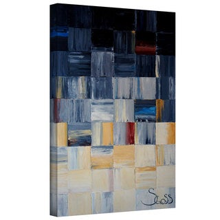 ArtWall Shiela Gosselin 'Grey Squares' Gallery-wrapped Canvas