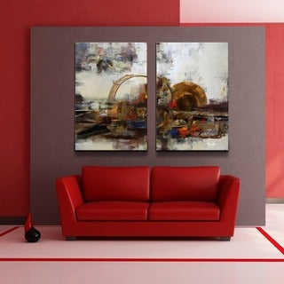 Ready2HangArt 'Muzik XIX' Oversized 2-piece Canvas Wall Art