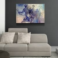 Ready2HangArt 'Zodiac Study: Aquarius' Oversized Canvas Wall Art