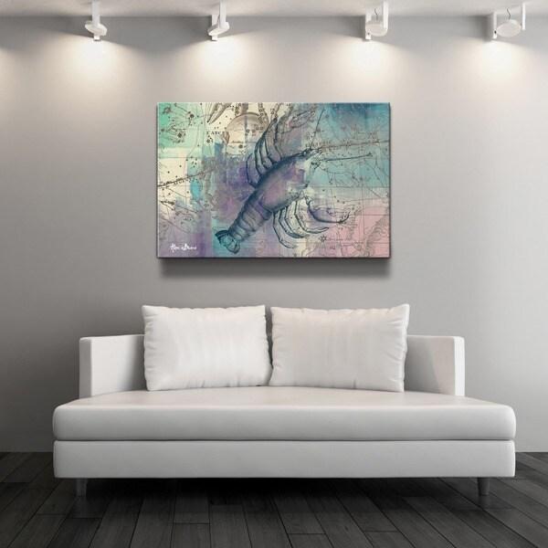 Ready2HangArt U0026#x27;Zodiac Study: Canceru0026#x27; Oversized Canvas Wall Art