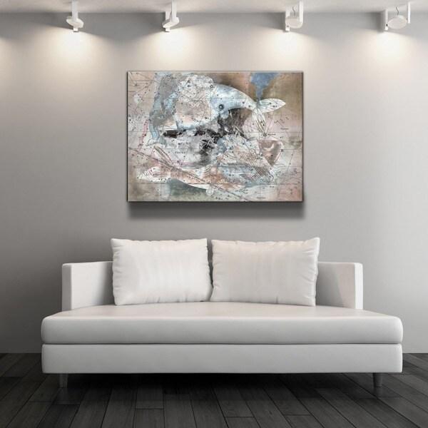 Ready2HangArt 'Zodiac Study: Pisces' Oversized Canvas Wall Art