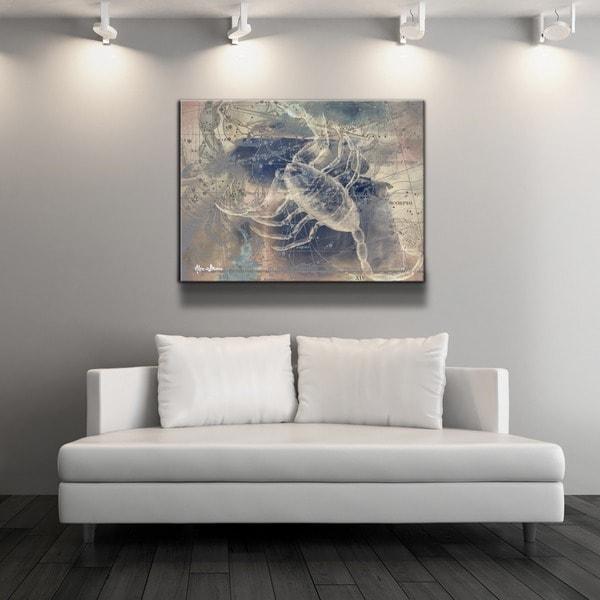 Ready2HangArt U0026#x27;Zodiac Study: Scorpiou0026#x27; Oversized Canvas Wall Art