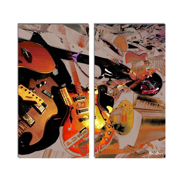 Ready2HangArt 'The Color of Jazz XX' Oversized 2-piece Canvas Wall Art