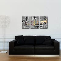Ready2HangArt 'The Color of Jazz XV' Oversized 3-Piece Canvas Wall Art