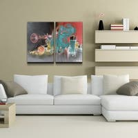 Ready2HangArt 'The Color of Jazz XIII' Oversized 2-piece Canvas Wall Art
