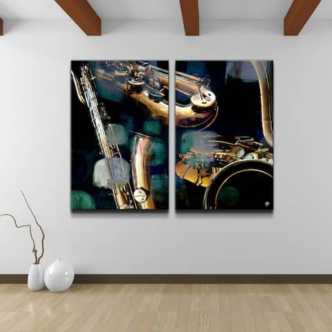 Ready2HangArt 'The Color of Jazz VI' Oversized 2-piece Canvas Wall Art