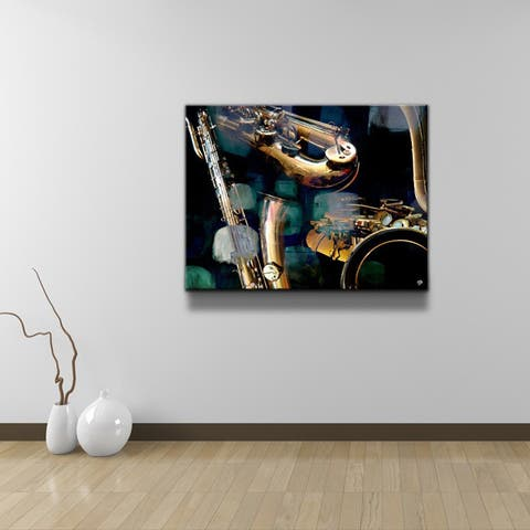 Ready2HangArt 'The Color of Jazz VI' Oversized Canvas Wall Art