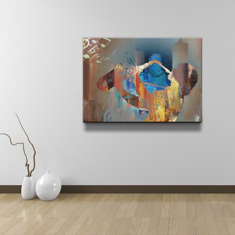Ready2HangArt 'The Color of Jazz V' Canvas Wall Art