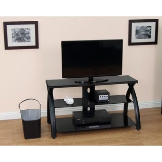 Calico Designs Futura 42 in. Wide x 19 in. Deep x 22.5 in. High TV Stand (Black)